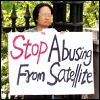 stop abusing from satellite
